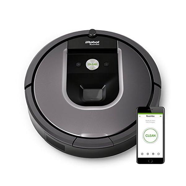 iRobot Roomba 960 Robot Aspirapolvere, Sistema di Pulizia Dirt Detect, Spazzole Tangle-Free, per Pavimenti e Tappeti… 1 spesavip