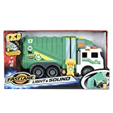 Fast Lane Light and Sound Garbage Truck Green White Rubbish Lorry Wheelie Bin Lift Tipper Flashing Toy Vehicle 38 centimetre