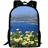 Wild Chrysanthemum In Bloom Adult Travel Backpack School Casual ypack Oxford Outdoor Laptop Bag College Computer Shoulder Bags