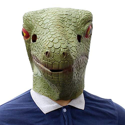 LLWGNZM Maske-Eidechse Gecko Kreative Lustige Latex Masken Unisex Film Cosplay Anime Kostüm Prop Erwachsene Tier Party Maske Für (Kreative Kostüm Für Erwachsene)