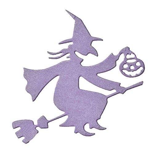 zformen, Halloween Hexe Kürbis Laterne Metall dekorative Stanzform für Scrapbooking ()