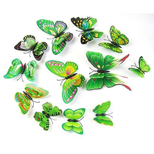Zegeey 12 stücke 3D Schmetterling Wandaufkleber Kühlschrankmagnet Room Decor Aufkleber Applique
