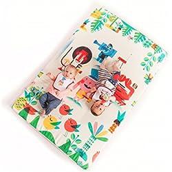 Manta de juegos para bebés acolchada plegable enrollable gimnasio suelo actividades alfombra Tamaño único 130x90 cm Fabricada en España Decoracion Regalo bebe (Jungle Rock)
