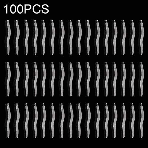 Kdjshhs for 100 PCS Unreal Earthworm Angelköder Voiced Silikon Worms Fischköder (Dunkelrot) (Farbe : Weiß)