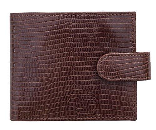 Prime Hide ,  Herren-Geldbörse, braun (braun) - 6612-Brown - Croc Embossed Wallet
