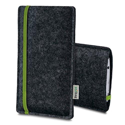 Stilbag Filztasche 'LEON' für Apple iPhone 7 plus - Farbe: rot-anthrazit grün