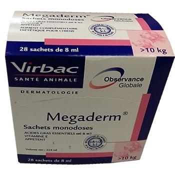 Mégaderm® 8 ml Équilibre de la peau chien de + 10 kg Boite 28 Sachets Monodoses