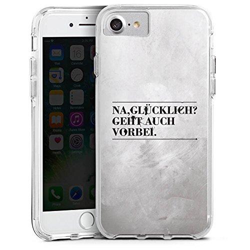 Apple iPhone 7 Bumper Hülle Bumper Case Glitzer Hülle Sayings Sprüche Phrases Bumper Case transparent