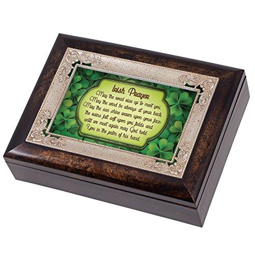 Irish Segen grün Kleeblättern Italienisches Design Jewelry Musik Box spielt, wenn Irische Augen Lächeln Design Musik Box
