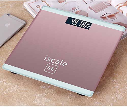 Etekcity Digitale Personenwaage Körperfettwaage Körperanalysewaage mit Körperfettanzeige, 5kg-180kg, Slim Design (Rosa)