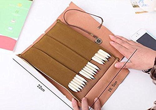 Sac étui à crayons Papeterie Stylo en toile Sacs cosmétiques Style-7
