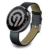 NINETEC Smart9 G2 Smart Watch für Android & Apple iOS mit Herzfrequenz-Messer Pedometer Schritt-Zähler Schlaf-Analyse Schwarz