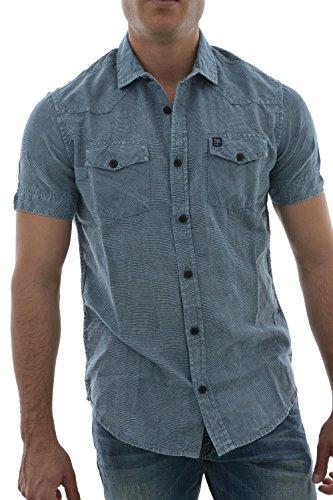 PETROL INDUSTRIES Shirt Ss-Camicia a maniche corte Uomo    blu XXXL