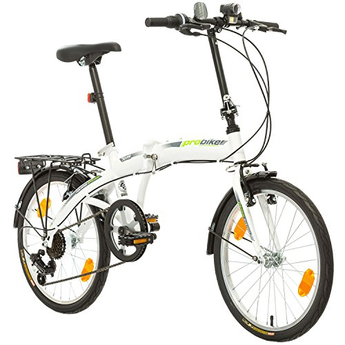 51isiOSaxtL. SS500  - Multibrand Probike Folding System Mountain Folding Bike City Bike, Man, Woman, Child One Size Fits All 6speed gears Shimano Derailleur Gears, Folding System, Traffic Light, fully assembled, Green