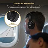 from TaoTronics Active Noise Cancelling Bluetooth Headphones, TaoTronics Wireless Over Ear Headset, Foldable Earphones with Powerful Bass (Dual 40 mm Drivers, 25 Hour Playtime, CVC 6.0 Noise Cancelling Built In Mic) Model TT-BH22UK