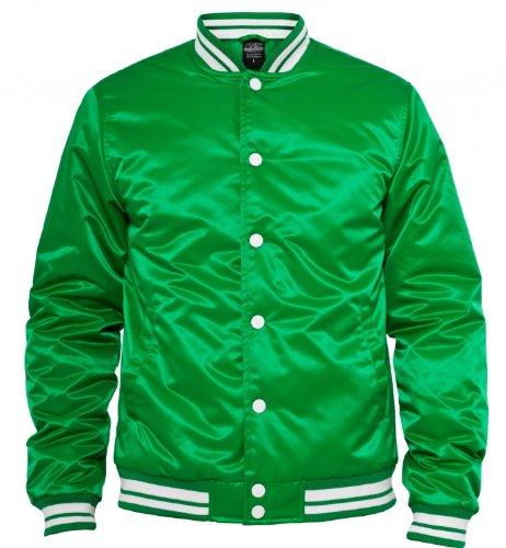 """Urban Classics : """"Mens Shiny College Jacket"""" dans de nombreux coloris cgreen-white-black"""