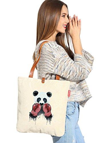 So 'each da donna Boxer Cute Panda Graphic Tela Borsa Shopper Shopping Bag