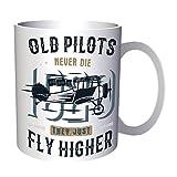 Retro auténtica aventura de piloto de avión de vuelo 330 ml taza dd313