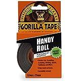 Gorila Cinta 2,54cm práctico rodillo, negro, Paquete de 2