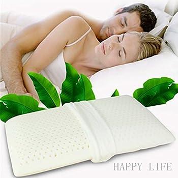 Latex oreillers en mousse Anti-snore Deep Sleep anti-acariens antiallergique Confort Haut de gamme de massage Naturel avec 100% de remplissage ventilé Profilé Medium extérieur Voyage Beding (White, 60_x_40_x_7cm)