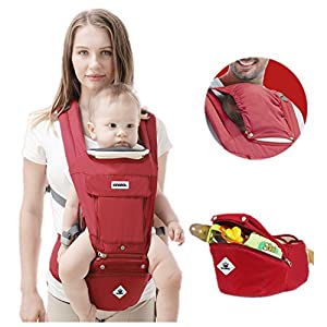 All Seasons 360 Ergonomic Baby Carrier 3 in 1 Backpack with Hip Seat-12 Position,Adapt to Growing Baby (Newborn, Infant & Toddler), Adjustable Baby Carrier Sling,Baby Diaper Bag with Large Capacity  Reclining backrest - you can make your child's journey even more convenient with the reclining backrest. the backrest can be reclined independently which gives you the flexibility to provide a relaxing sleeping position for each child individually. Seat unit with mesh panels - to keep your child comfortable on hot days, the seat unit has mesh panels on the sides and top of the seat unit for better air circulation. Large hood with sun visor - when taking a nice relaxing stroll in the sun, the large hoods with sun visor are independently adjustable and provide protective shade to your little passenger. 9