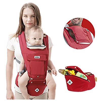 All Seasons 360 Ergonomic Baby Carrier 3 in 1 Backpack with Hip Seat-12 Position,Adapt to Growing Baby (Newborn, Infant & Toddler), Adjustable Baby Carrier Sling,Baby Diaper Bag with Large Capacity  TRUMP