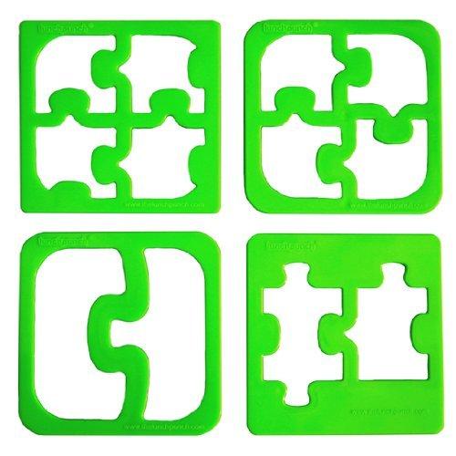 lunchpunch Match & Munch Sandwich-Ausstechformen 4er Set in Puzzleform