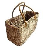 Einkaufstasche aus Wasserhyazinthe mittel Korb Tasche Einkaufskorb Korbtasche