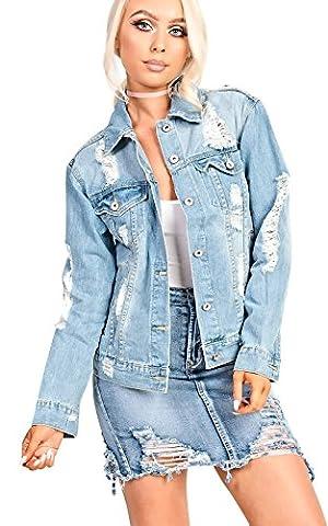 Women's Ladies Gorgeous Glam Oversized Denim Jacket