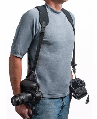 Kamera-Geschirr (Halterung für 2 Kameras, Neopren) Schwarz ()