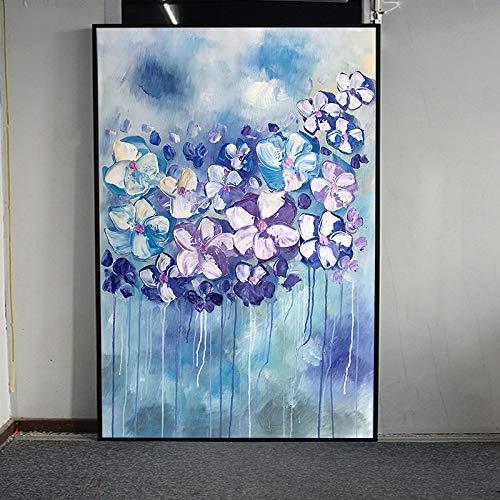 jiushice Abstrakte Blumen Kunst Öl Auf Leinwand Wandkunst Wandschmuck Bilder Für Live Room Home Decor 1 40X70 cm
