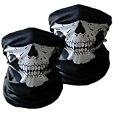Motorcycle Face Masks 3 Pieces Xpassion Skull Mask Half...