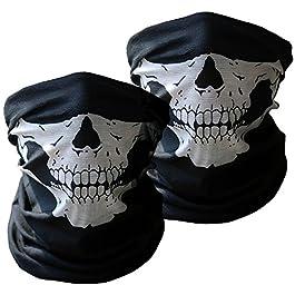 Black Mask Xpassion Cranio Tubolare Protettivo Polvere Maschera Bandana Moto Sciarpa Poliestere Viso Collo Scaldino 2…