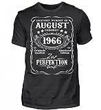 Shirtee Hochwertiges Herren Organic Shirt - Legenden August Geburtstag 1966