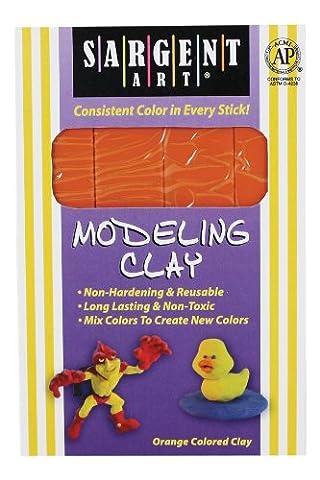 Sargent Art 22-4014 1-Pound Solid Color Modeling Clay, Orange by Sargent Art