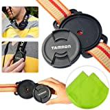 First2savvv JT0103 Universal 72mm /77mm / 82mm Camera Lens Cap Holder Buckle for Canon Nikon Sony Panasonic Fujifilm Olympus Pentax Sigma DSLR/SLR with LENS Cleaning Cloth