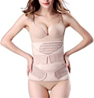 3 in 1 Postpartum Girdle Support Recovery Belly Band Corset Wrap Body Shaper for After Birth Postnatal C-Section Waist Pelvi