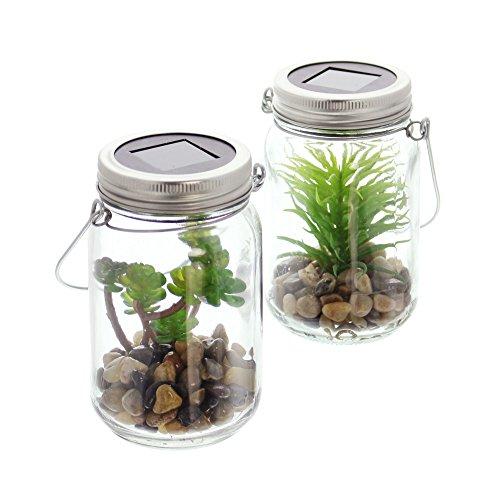 D-Glas Mini-Garten im 2er Set ()