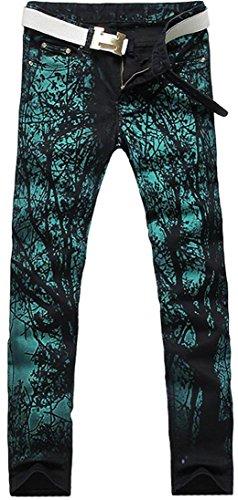 jeansian Herrenmode Casual Pants Jeans-Hose J229 MJB029_Green