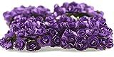 FiveSeasonStuff® 144 Stück Papier Rose Blumen künstliche Blumen, perfekt für Hochzeit Gunst Boxen, Party, Haus & Garten Dekor, Kunsthandwerk, DIY (Lila)