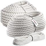 Seilwerk STANKE 10m BAUMWOLLSEIL 14mm Naturfasern handgedreht Tauwerk