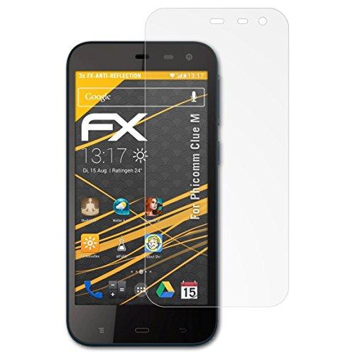 atFolix Panzerfolie kompatibel mit Phicomm Clue M Schutzfolie, entspiegelnde & stoßdämpfende FX Folie (3X)