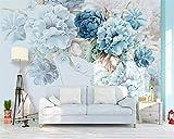 HONGYAUNZHANG Frische Pfingstrose Garten Benutzerdefinierte Fototapete 3D Stereoskopischen Wand Wohnzimmer Schlafzimmer Sofa Hintergrund Wandmalereien,260Cm (H) X 340Cm (W)