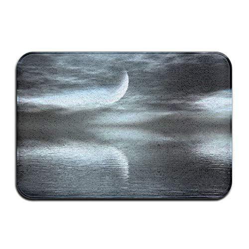 Klotr Fußabtreter, Home Door Mat Lake Moon Reflection Doormat Door Mats Entrance Rugs Anti Slip 40x60 cm for Indoor Outdoor