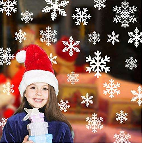 as Snowflake Window Clings Decal Wall Stickers - Xmas/Holiday/Winter Wonderland White Decorations Ornaments Party ()