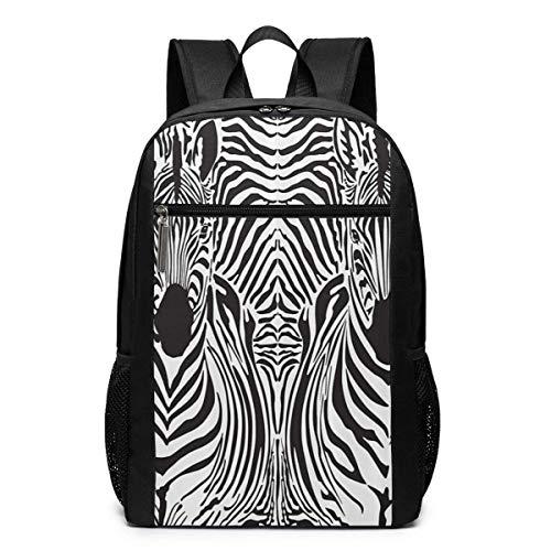 FShopNow Rucksack Schultasche Zebras Skins Laptop Backpack, 17-inch Laptop Backpack for High Or College Schoolbag Book Bag for Men Women Black