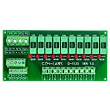 Electronics-Salon Panel Mount 10 Position Power Distribution Fuse Module Board, For AC230V .