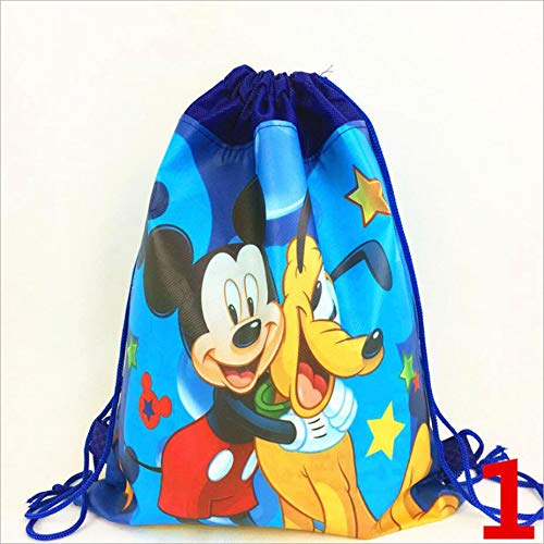 Tyro DIWEINI 1pcs Mickey Mouse Gift Bag Back Pack Cartoon Drawstring Bag GiftSchoolbag Christmas Birthday Party Supplies Party Favors (Bag Mickey Favor)