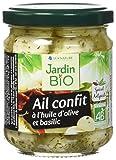 Jardin Bio Ail Confit à l'Huile d'Olive/Basilic 190 g