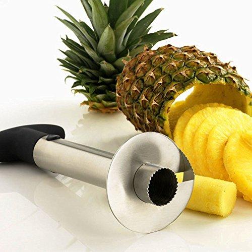 elentkerner, Sparschäler Ring Cutter, Keil, Edelstahl Obst schneiden Scheiben-Messer, frische Ananas Obst (Dinge Für Linkshänder)